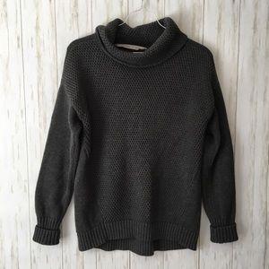 athleta • Gray Cowl Nk Waffle Knit Chunky Sweater